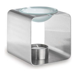 Blomus - Ralaja Stainless Steel Aromatherapy Burner - Includes 1 tea light. Made of stainless steel and sanitized glass. Designed by Susanne Augenstein. 1-Year manufacturer's defect warranty. 3.95 in. Dia. x 4.15 in. H