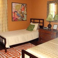 Eclectic Bedroom by Linda Clayton Interiors
