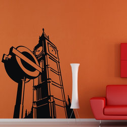 ColorfulHall Co., LTD - London Landmarks Big Ben Construction Wall Decals - You will find hundreds of affordable peel - and - stick wall decal designs, suitable for all kinds of tastes and every room in your house, including a children's movie theme, characters, sports, romantic, and home decor designs from country to urban chic. Different from traditional decals, vinyl wall decals is with low adhesive that allows you to reposition as often as you like without damaging the paint. Application is easy: peel offer the pre-cut elements on the design with a transfer film, and then apply it to your wall. Brighten your walls and add flair to your room is just as easy.