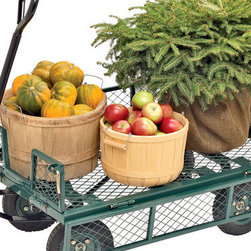 All-Terrain Landscaper's Wagon - If you are an avid gardener, a cart or wagon could be a great investment. Keep all your supplies on your cart and wheel it around the yard with you. This way all your equipment stays mobile and easy to access. Even take it along with you to the nursery to pick up new supplies.