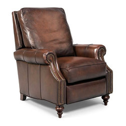 Madigan Leather Recliner Chair - It's actually hard to find a comfortable recliner that looks good, but here you go. This is a great one.