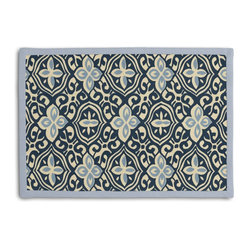 Blue Moroccan Mosaic Tailored Placemat Set - Class up your table's act with a set of Tailored Placemats finished with a contemporary contrast border. So pretty you'll want to leave them out well beyond dinner time! We love it in this royal & sky blue block print reminiscent of traditional morrocan mosaics.