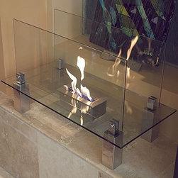 Bluworld Fountains - Fiero Freestanding Fireplace -