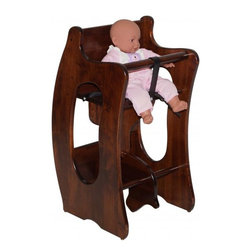Michael Anthony Furniture - Handcrafted Amish 3 in 1 High Chair, Rocking Horse, and Writing Desk - Handcrafted Amish 3 in 1 High Chair, Rocking Horse, and Writing Desk
