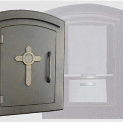 Qualarc, Inc. - Manchester with Security Option, Decorative Cross, Bronze - Manchester with Security Option, Decorative Cross, Bronze