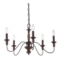 Quoizel - Quoizel HK5005 Holbrook 5 Light 1 Tier Chandelier - An ideal addition to your home, this glamorous chandelier features 1 tier and 5 lights.Features:
