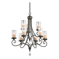 "Kichler - Kichler 42863SWZ Lara 2-Tier Chandelier w/9 Lights - 72"" Chain - 32 Inches Wide - Product Features:"