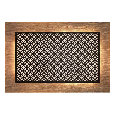 Crestview Doors - Glastonbury Lightbox Headboard - Bring even more magic into your bedroom with this handcrafted lightbox headboard. This visually stunning headboard can both frame and light your bed — or stand alone to transform an unadorned wall.