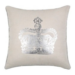 Victoria Neutral Pillow - This shop always has a good selection of soft, feminine, modern designs — think glam metallics, florals, rosettes and plush materials. I have been on a bit of a British kick lately (hello, Downton Abbey), so I immediately gravitated to the pillows with an English accent.