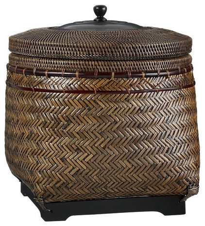 eclectic baskets by Crate&Barrel