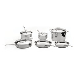 Berghoff - Berghoff Earth chef Premium Copper Clad 10-Piece Cookware Set - Set includes: 6-1/4-inch/1-1/2-quart cover Saucepan, 8-inch/3-quart cover Saucepan, 10-inch/3-quart cover Sauté' pan, 10-inch/8-quart cover Stockpot, 8-inch fry pan, and 10-inch fry pan. This cookware set promotes a healthy method of cooking. Stay cool, strong and secure grip riveted handles. Copper Clad core with 6 layer patented base design cooks fast and even.