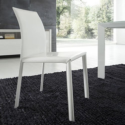 Rossetto Furniture - Slide White Dining Chairs - Set of 2 - 992095020050DCH - Glossy white lacquer