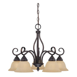 Savoy House Lighting - Savoy House Lighting Chandelier Traditional Classic Chandelier X-31-5-30108-P1 - 5-Light Chandelier with rich English Bronze finish, Tinted Scavo glass, and elegant classic styling.