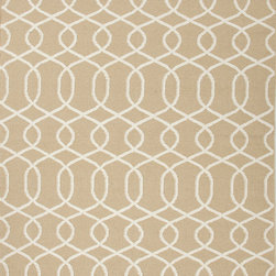 Jaipur Rugs - Flat Weave Geometric Pattern Beige /Brown Wool Handmade Rug - UB11, 9x12 - A range of beautifully designed flat weaves in a stunning color palette. Hand woven from 100% wool, each rug has its own personality and is versatile and easy to use.