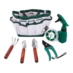 Ruff & Ready - Ruff & Ready 7-piece Garden Set - This garden tool set offers all you need to garden with ease. A variety of useful tools, like a handle rake and hardwood handle trowel, make this set a must-have for the green-thumbed. A nylon gardening bag keeps all of your tools organized.