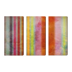 "The Oliver Gal Artist Co. - ''Pure Emotion 3 Panels' 36""x50"" Canvas Art - Fine art premium canvas print with hand brushed acrylic finish"