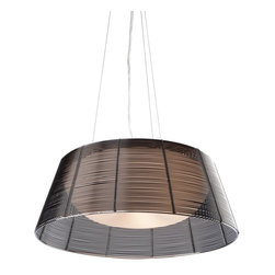 Artcraft Lighting - Artcraft Lighting San Jose Modern / Contemporary Pendant Light X-KB713CA - The San Jose collection features individually hand weaved black finished wiring, covering a white glass dome, suspended on aircraft cable with a chrome canopy.
