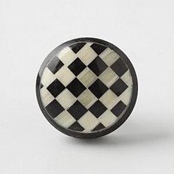 Anthropologie - Checker Knob - *Tighten with care