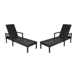 SOLD OUT! Two Brown Woven Deck Chairs - $1,600 Est. Retail - $599 on Chairish.co -