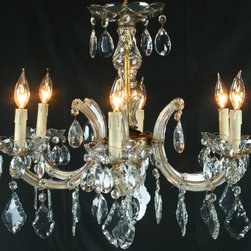 EuroLux Home - Consigned Vintage French Chandelier 6-Arm Rococo Marie - Product Details
