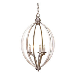 Currey and Company - Bella Luna Chandelier, Small - The grace of this chandelier come from the simplicity of a beautiful form that marries well with the bold treatment of the wrought iron that shapes it..