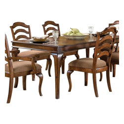 Standard Furniture - Standard Furniture Crossroad Extension Leg Dining Table in Mid-Tone Brown - Crossroads captures the charm and elegance of Country French styling in a new, cleanly tailored interpretation.