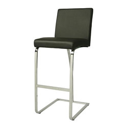 Pastel - 26.5 in. Counter Stool in Black - Contemporary style. Metal frame. Chrome finished sturdy legs and foot rest. PU upholstered padded seat. Warranty: One year. Assembly required. Footrest height: 8. 5 in. Seat: 16 in. W x 17 in. D x 26. 5 in. H. Overall: 16 in. W x 22. 5 in. D x 38 in. H (20. 9 lbs. ). The Monaco counter stool has a simple yet elegant design that is perfect for any decor. An ideal way to add a touch of modern flair to any dining or entertaining area in your home.