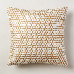 Hand-Embroidered Roundels Pillow -