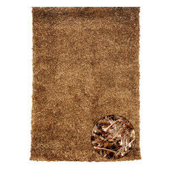 """Foreign Accents - Mambo Caramel Rug - Features: -Technique: Tufted.-Material: 100% Polyester.-Wear and fade resistant with minimal shedding.-Stain mildew resistant.-Construction: Handmade.-Allergen free flame retardant.-Collection: Mambo.-Distressed: No.-Primary Color: Caramel .-Border Material: 100% Polyester.-Type of Backing: Cotton canvas backing.-Fringe: No.-Reversible: No.-Rug Pad Needed: Yes.-Water Repellent: No.-Swatch Available: Yes.-Eco-Friendly: No.-Recycled Content: 0%.-Outdoor Use: No.-Product Care: Spot clean with water and mild soap, then air dry. Can be washed in water at specialized carpet cleaners. Shake out as needed. For everyday cleaning, simply use a medium-power vacuum cleaner with a hard surface attachment, do not use a beater brush.Specifications: -CRI certified: No.-Goodweave certified: No.Dimensions: -Pile Height: 1.5''.-Overall Product Weight (Rug Size: 5' x 7'3""""): 27 lbs.-Overall Product Weight (Rug Size: 7'5"""" x 9'6""""): 60 lbs.Warranty: -1 Year."""