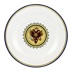 Artistica - Hand Made in Italy - PALIO DI SIENA: AQUILA (Eagle) Dinner Plate - The ''Palio di Siena'' is a tournament as a replica of a medieval horse race which is ran twice year, during the summer season, in the city of Siena, located in the beautiful Tuscany region.