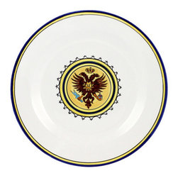 """Artistica - Hand Made in Italy - Palio Di Siena: Aquila (Eagle) Dinner Plate - The """"Palio di Siena"""" is a tournament as a replica of a medieval horse race which is ran twice year, during the summer season, in the city of Siena, located in the beautiful Tuscany region."""