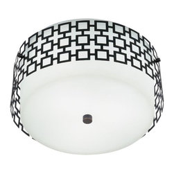 Robert Abbey - Robert Abbey-Z664-Jonathan Adler Parker - Three Light Flush Mount - JA PARKER FLUSH MOUNT - BZ