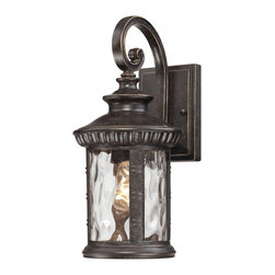 Quoizel - Quoizel CHI8407IB Chimera Transitional Outdoor Wall Sconce - Chimera, a traditional outdoor collection with unique glass, will add flair to your home's exterior.  Its imperial bronze finish works well with many decors its distinctive clear water glass is sure to make a statement for years to come.