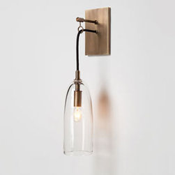 LURE SCONCE by Alison Berger for Holly Hunt - 3.5W x 5.5D x 16H (9W x 14D x 41H cm)