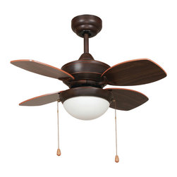 Yosemite Home Decor - 28 Inch Ceiling Fan in Oil Rubbed Bronze Finish with 72 inch Lead Wire - Features:
