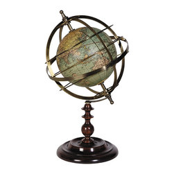 "Inviting Home - Globe Armillary Sphere - armillary sphere with globe 7"" x 12""H Globe armillary sphere is good for life changing conversations about the historical aspects of the Copernican versus the Ptolemaic view of the universe�"