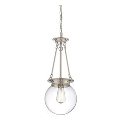 "Savoy House - Glass Orb 9"" Pendant - Salute the bygone days of incandescent illumination with these exceptional Savoy House glass pendants. The nostalgic bulbs are on full display inside clear glass globes."