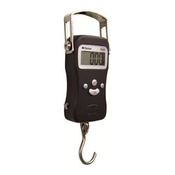 American Weigh Scales - American Weigh Hanging Digital Scale - This portable hanging scale is a vertical weighing solution that you can easily take with you anywhere. Its rugged die-cast metal construction and built-in tape measure make it one of the most versatile scales on the market.