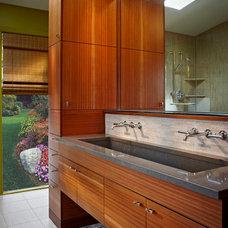 Contemporary Bathroom by Kraft Custom Construction