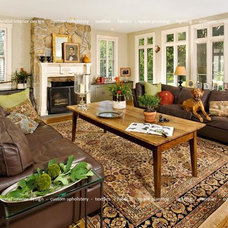 Traditional Family Room by Rhonald Angelo Interiors