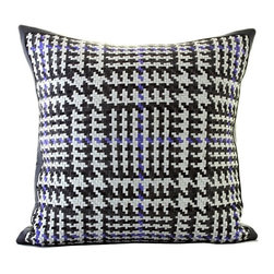 Woven Leather Throw Pillows - http://www.graciousstyle.com/shop/lance-wovens-pillows/lance-wovens