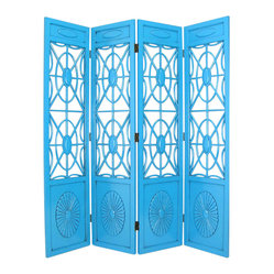 Wayborn - Wayborn Spider Web Room Divider in Teal - Wayborn - Room Dividers - 2239T -