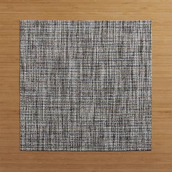 Chilewich® Crepe Plaid Square Placemat - Fresh, sophisticated plaid takes shape in an unexpected square, created by Chilewich just for us. Easy-care and durable placemat blends tonal greys in a contemporary weave takes its cue from finely woven textiles.