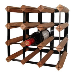 """Vinotemp Rack-12CT 12 Bottle Cellar Trellis Wine Rack - This little wine rack is the perfect size to be portable for use anywhere you need storage for a couple of bottles. With a capacity of 12 bottles, try this rack in the kitchen, dining room, or wine room. Features: - Wood and Powder-Coated Metal Trellis rack - Top row allows for display of 3 bottles of wine - Universal 3 3/4"""" racking fits most bottle sizes - Bottle Capacity: 12 bottles - Dimensions: 12.75"""" W x 10"""" D x 12.75"""" H"""
