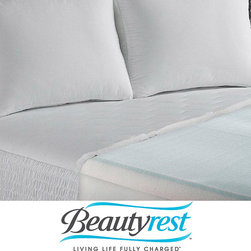 Simmons Beautyrest - Beautyrest 2-inch Marble Gel Memory Foam Fusion Mattress Topper - Get a great night's sleep with this memory foam Beautyrest mattress topper. Gel memory foam keeps your head and neck comfortable and supported while offering dust mite-resistant and antimicrobial properties. This topper helps reduce pressure points.