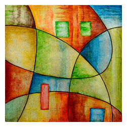 Yosemite - Yosemite FCE-DF1091 Color & Line IV Wall Art - Yosemite FCE-DF1091 Color & Line IV Wall ArtHand painted abstract in colors of blue, green, yellow, & red.Yosemite FCE-DF1091 Features: