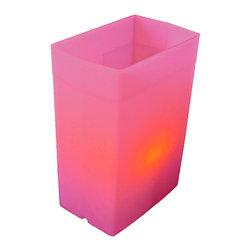 FLIC Luminaries, LLC - Pink FLIC Luminaries, Set of 36, Candles & Holders - 36 Pink FLIC Luminaries with Candles and Holders.