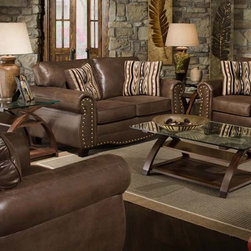 Simmons Upholstery - Larimie Godiva Chair - 8361-C - Larimie Godiva Collection Chair