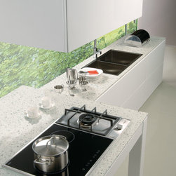 QUARTZ COUNTER TOP AND FLOOR -