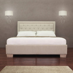None - Majestic Queen Bed - Instantly upgrade your guest room or bedroom with this beautiful queen bed. With durable construction and a padded headboard for additional comfort,this bed is the perfect way to get a comfortable night's sleep.